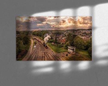 Luftaufnahme des Miljoenenlijntje bei Simpelveld von John Kreukniet