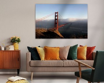 Golden Gate Bridge im Nebel von Gerrit de Heus