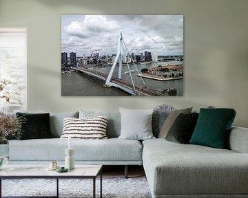 Erasmusbrug Rotterdam (liggend - kleur) van Rick Van der Poorten