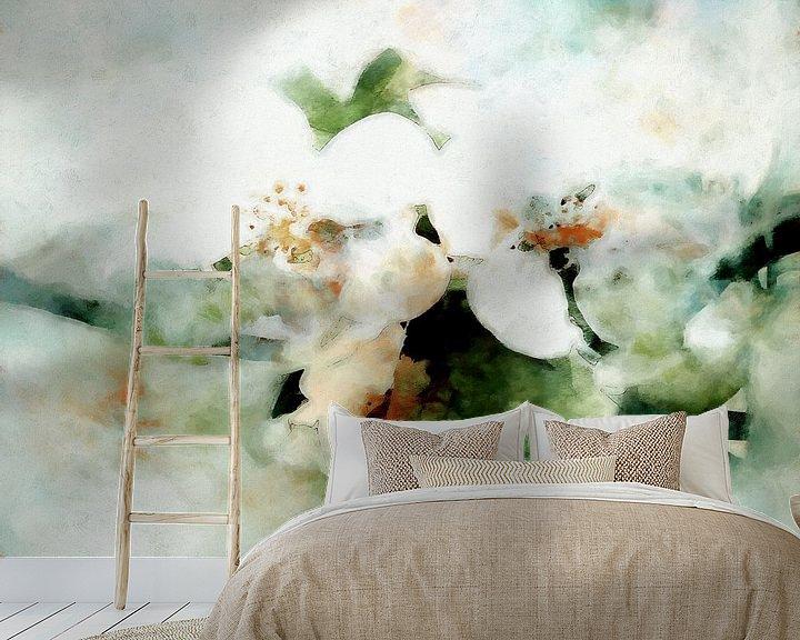 Sfeerimpressie behang: Lentebloesem van Andreas Wemmje