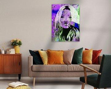 """Kate Moss """"Liebe"""" von Kathleen Artist Fine Art"""