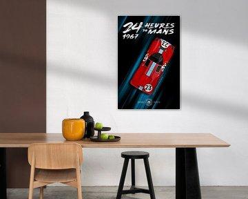 24 Heures du Mans 1967 Attwood Courage von Theodor Decker