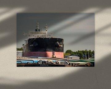 Bulkcarrier in het dok van de Scheepswerf Amsterdam Noord. van scheepskijkerhavenfotografie