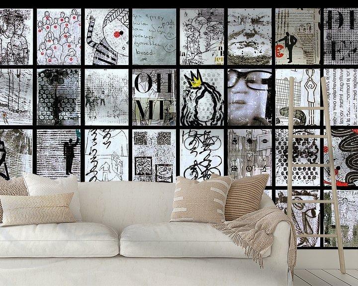 Sfeerimpressie behang: BLACK and WHITE van db Waterman