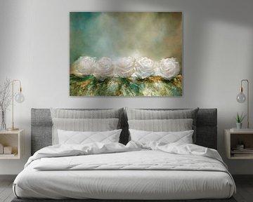 Schneerosen - weiße Rosen wie Schneeflocken von Annette Schmucker