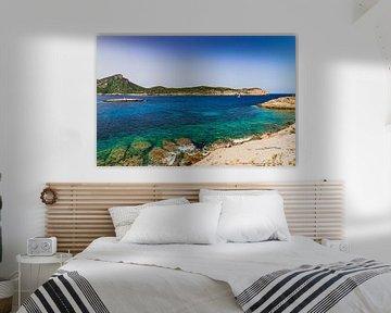 Mallorca, mooi zicht op nationaal park Sa Dragonera eiland aan de kust van Sant Elm van Alex Winter