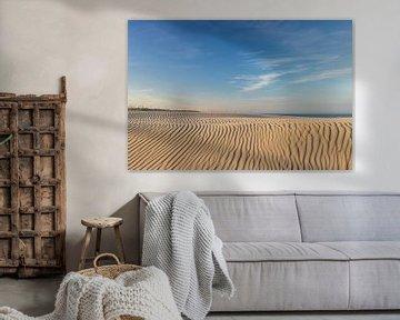 AMELAND Zand en blauwe lucht van Paul Veen