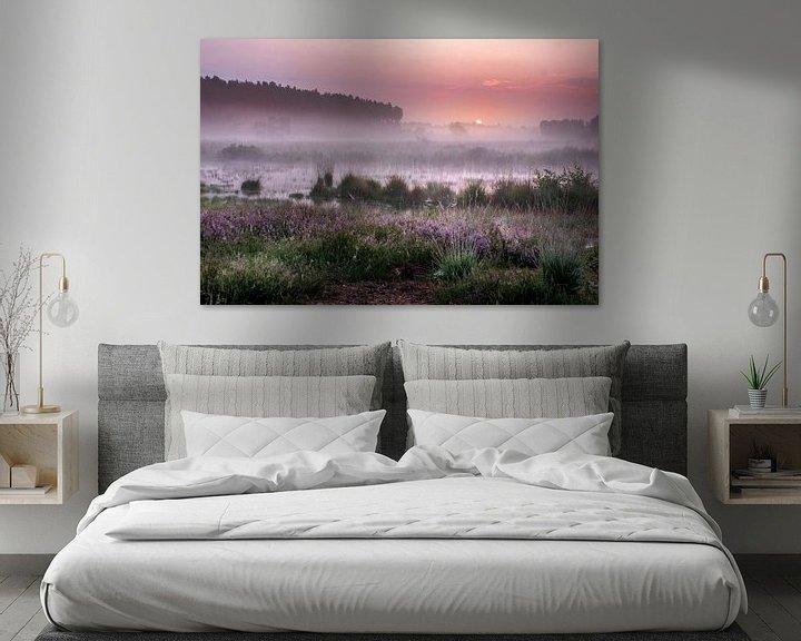 Sfeerimpressie: Zonsopkomst op de Teut in Limburg van Peschen Photography