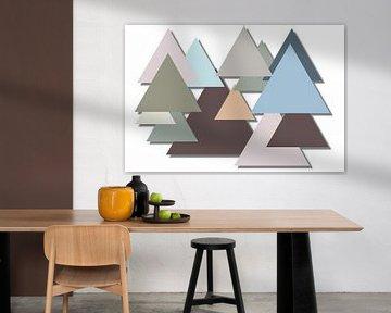 Triangles in pastelkleuren van Yvonne Smits