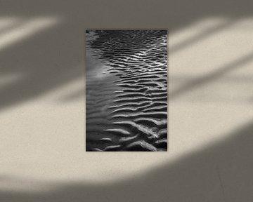 Réflexion sur la plage sur Rob Donders Beeldende kunst