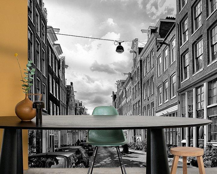 Sfeerimpressie behang: Binnen Brouwersstraat Amsterdam van Don Fonzarelli