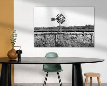 Klassieke windmolen in Friesland van Evert Jan Luchies