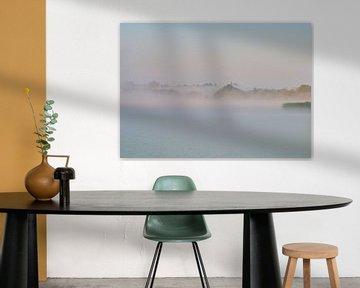 Nebel über dem See von Etienne Rijsdijk