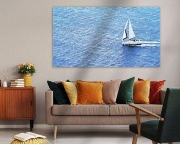 Zeilboot op Zee - II - Schilderij