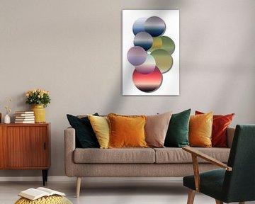 Gekleurde Cirkels van Yvonne Smits