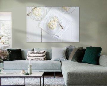 Panna cotta de chocolat blanc &amp ; noix de coco sur Nina van der Kleij