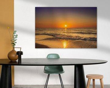 Zonsondergang strand Domburg van Rick van de Kraats