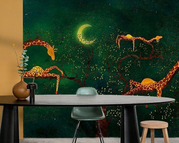 Sfeerimpressie behang: De giraffenboom van Atelier van Saskia