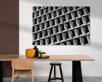 Komposition in Grau und Schwarz von Rini Braber