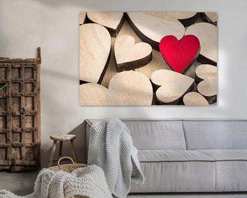 Achtergrond voor Valentijnsdag met veel romantische liefdeshartjes van Alex Winter