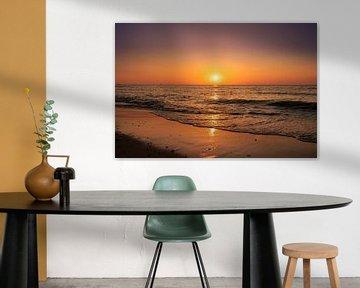 Zonsondergang Domburg van Rick van de Kraats