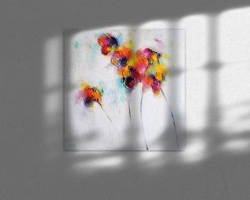 Textured Flowers von Maria Kitano