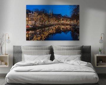 Nuit silencieuse au Krijtberg sur le Singel à Amsterdam