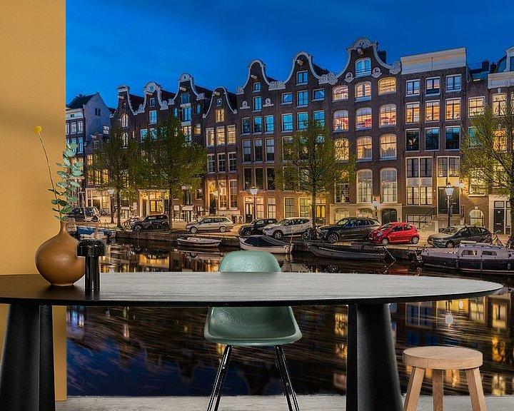 Sfeerimpressie behang: Voormalig Brouwerij Het Roode Hert aan de Prinsengracht in Amsterdam van Jeroen de Jongh