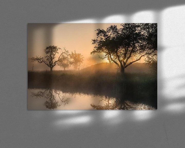 Sfeerimpressie: Gouden licht tijdens een magische ochtend op het Werk aan de Groeneweg 3 van Jeroen de Jongh