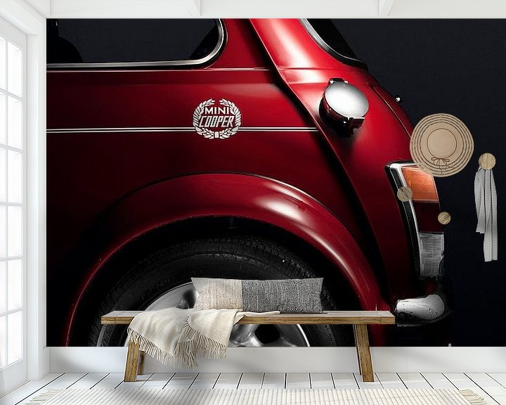Sfeerimpressie behang: Mini Cooper S 1998 van Thomas Boudewijn