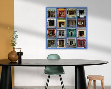 Collage van authentieke Franse etalages. von Gert van Santen