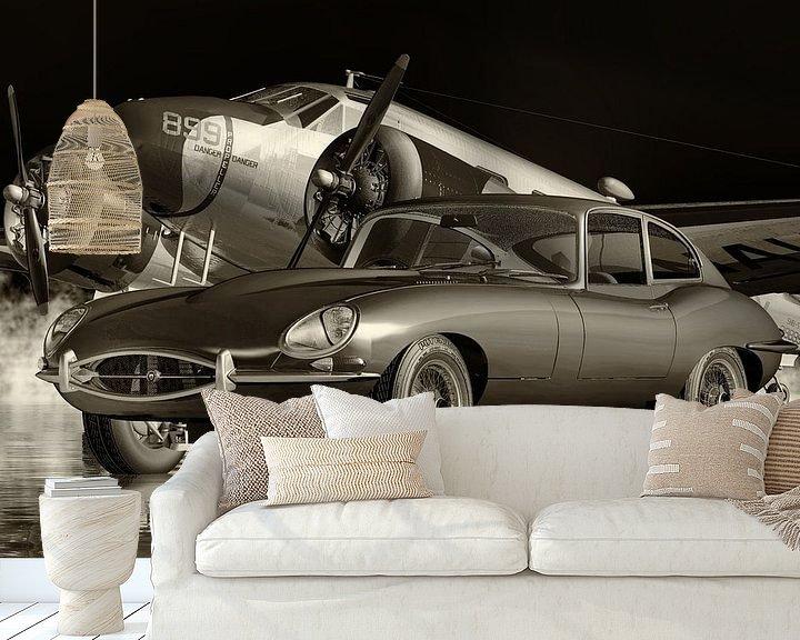 Beispiel fototapete: Die Autokultur des Jaguar E-Type aus den 1960er Jahren von Jan Keteleer