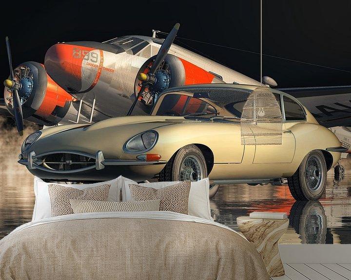Beispiel fototapete: Jaguar E-Type - ein legendärer Sportwagen von 1960 von Jan Keteleer