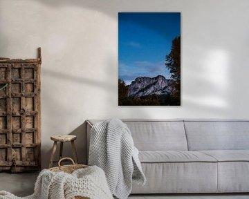 Sterrenhemel boven Oostenrijkse berg   Mondsee - Salzburg, Oostenrijk van Trix Leeflang