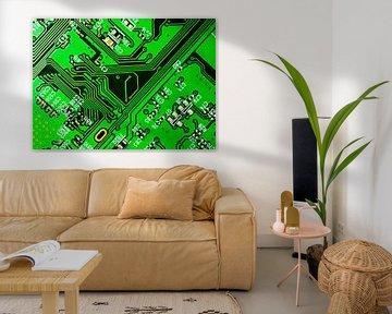 Groene printplaat van Leopold Brix