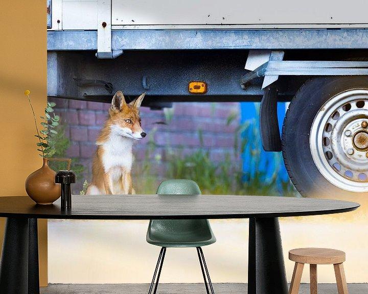 Sfeerimpressie behang: vos van Pim Leijen