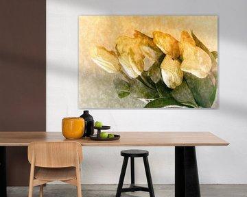gelbe Tulpengruesse van Dagmar Marina
