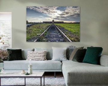 La voie ferrée vers Auschwitz sur Caught By Light