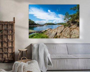 Landschaft auf der Halbinsel Riveneset in Norwegen von Rico Ködder
