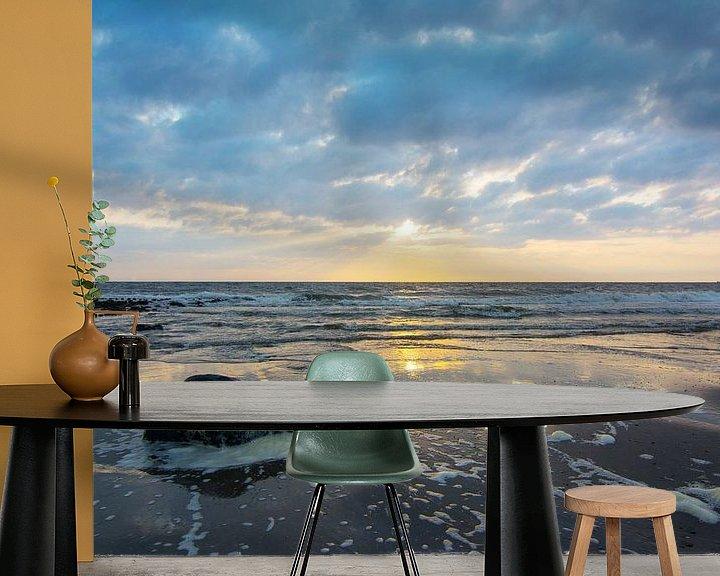 Sfeerimpressie behang: Zonsondergang in Nederland van Arjen Schippers