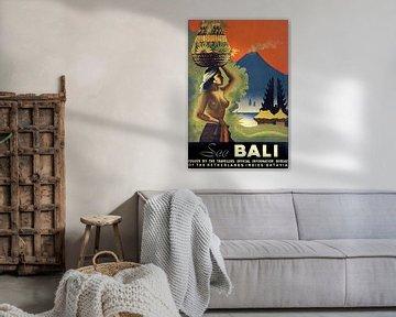 Vintage Indonesian Travel Poster van David Potter