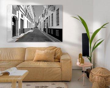 Stille straat in Sanlucar von Artstudio1622