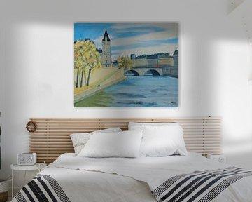 Quai de Orfèvres Paris von Antonie van Gelder Beeldend kunstenaar