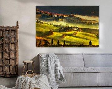 Lever de soleil en Toscane (peinture)