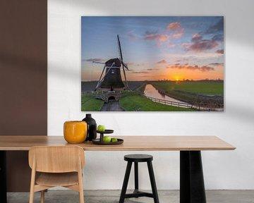 Holländische Poldermühle von Richard Gilissen