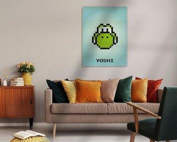 Yoshi des jeux Mario - Pixel Art