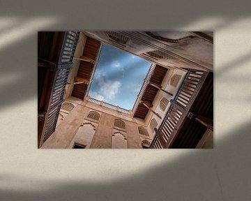 Kijk omhoog: Fort Jibreen, Oman van The Book of Wandering