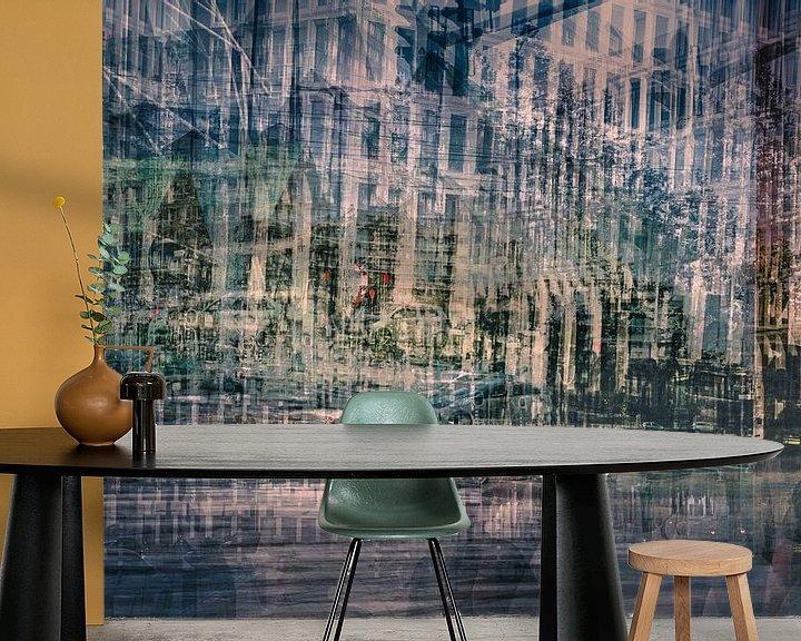 Sfeerimpressie behang: urban maze van jowan iven