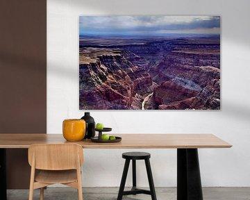 Grand Canyon met Colorado rivier van Henk Langerak