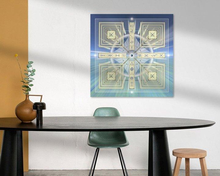 Sfeerimpressie: Energiepatroon met lichtcodes van Shirley Hoekstra